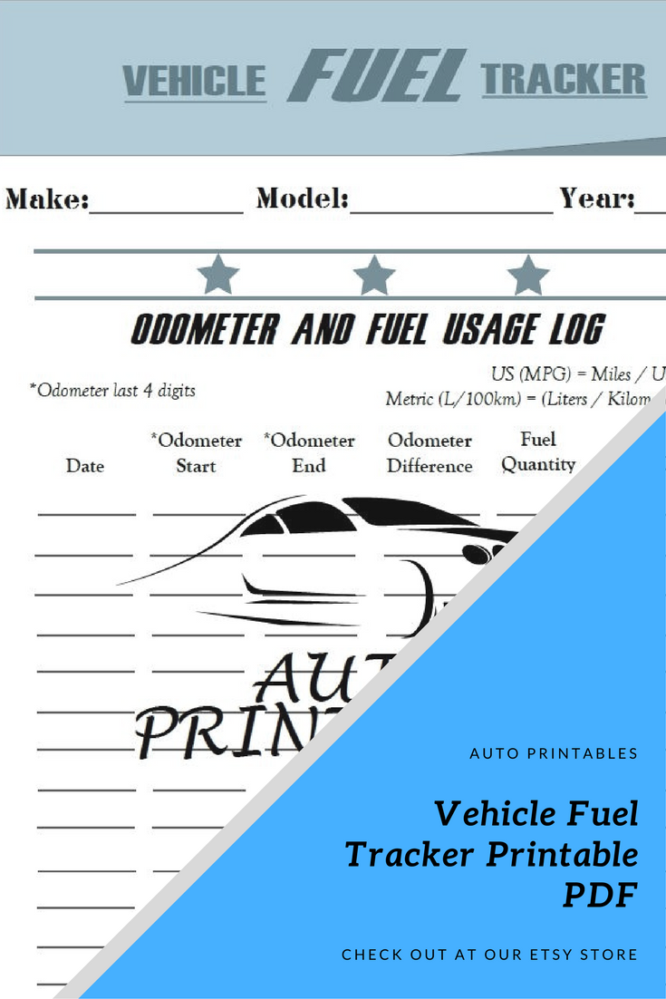 track the fuel your vehicle uses over time with this vehicle fuel