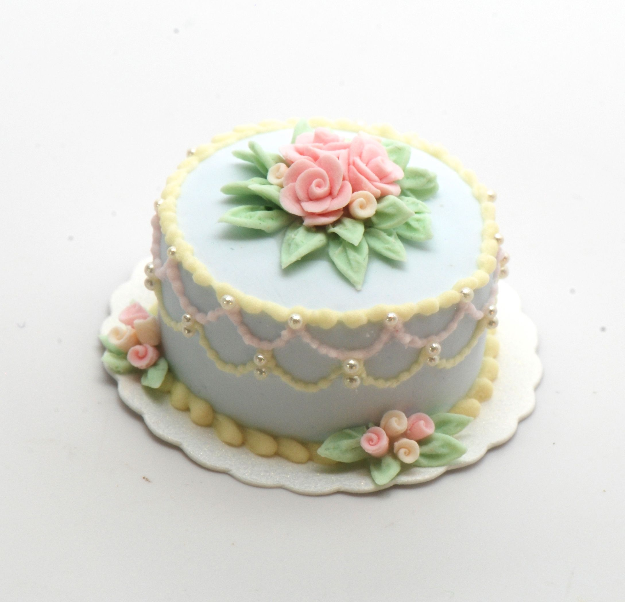 Pastel Lace Rope Cake | Stewart Dollhouse Creations