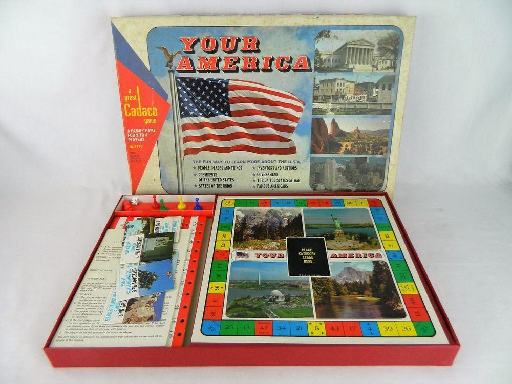 1970 Your America Board Game Cadaco 1776 Bicentennial USA