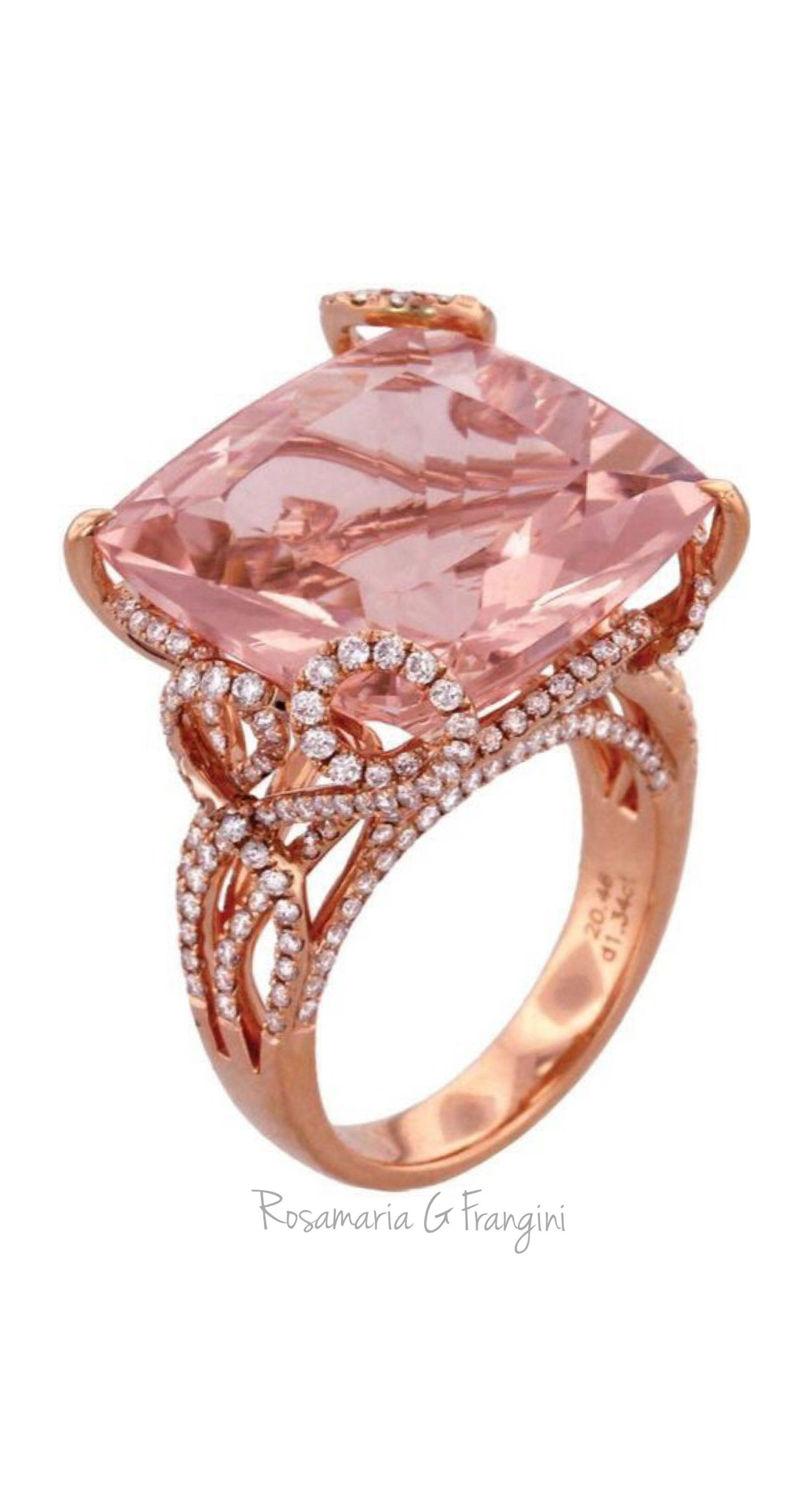 Rosamaria G Frangini | High Pink Jewellery | Morganite, diamond and ...
