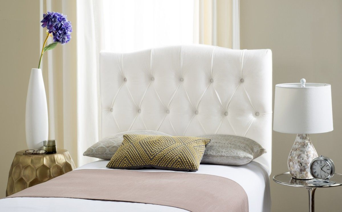 Axel White Tufted Headboard Headboards Furniture By With Images