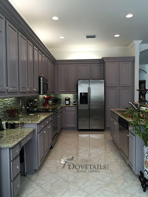 Refinished kitchen cabinet project using Chalk Paint® decorative ...