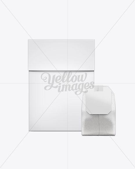 Download Tea Box With Tea Bag Mockup In Box Mockups On Yellow Images Object Mockups Bag Mockup Tea Box Square Paper