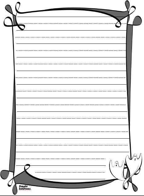 Halloween Lined Paper Fun To Write Spooky Stories On!! Http   Lined Paper To  Lined Paper To Write On