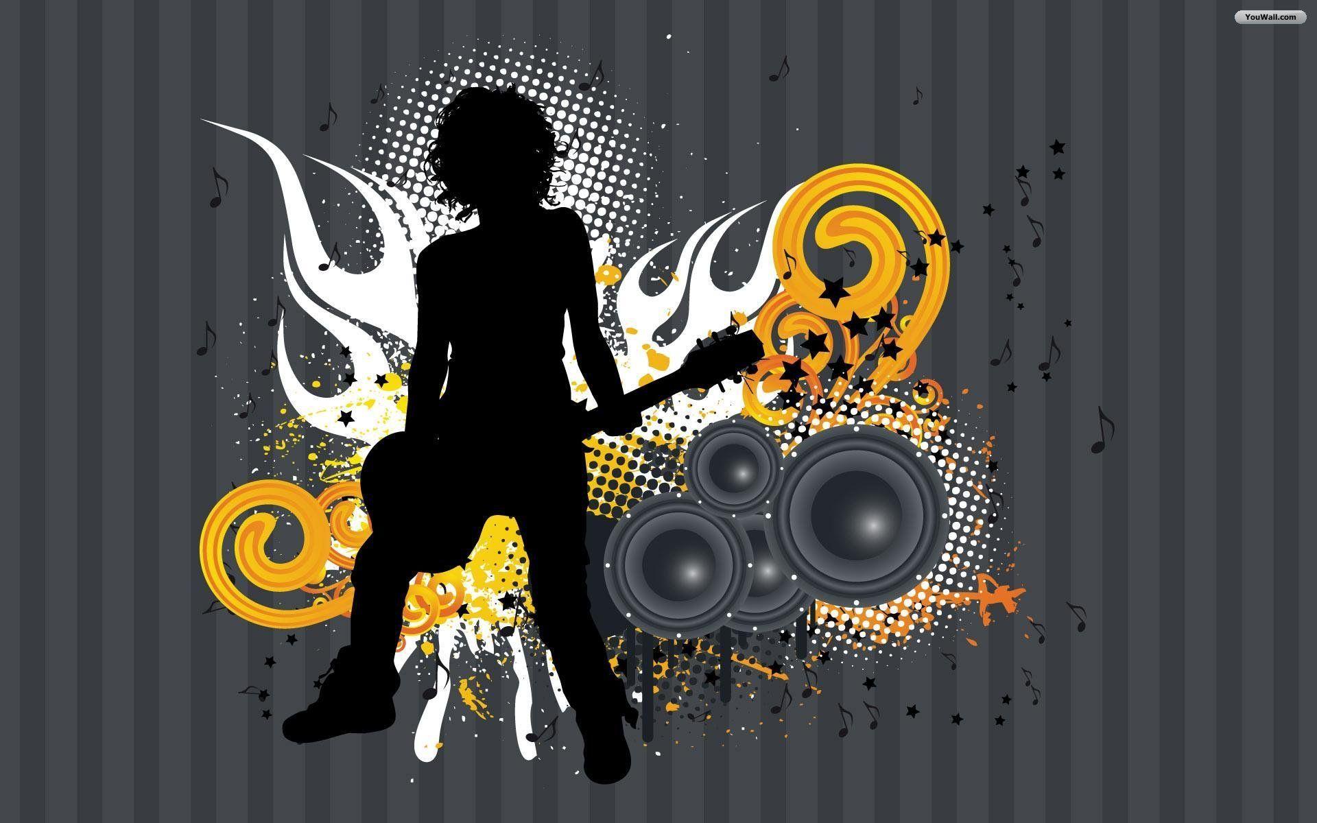 Rock n Roll Wallpaper M/J Guitar Rock Pinterest