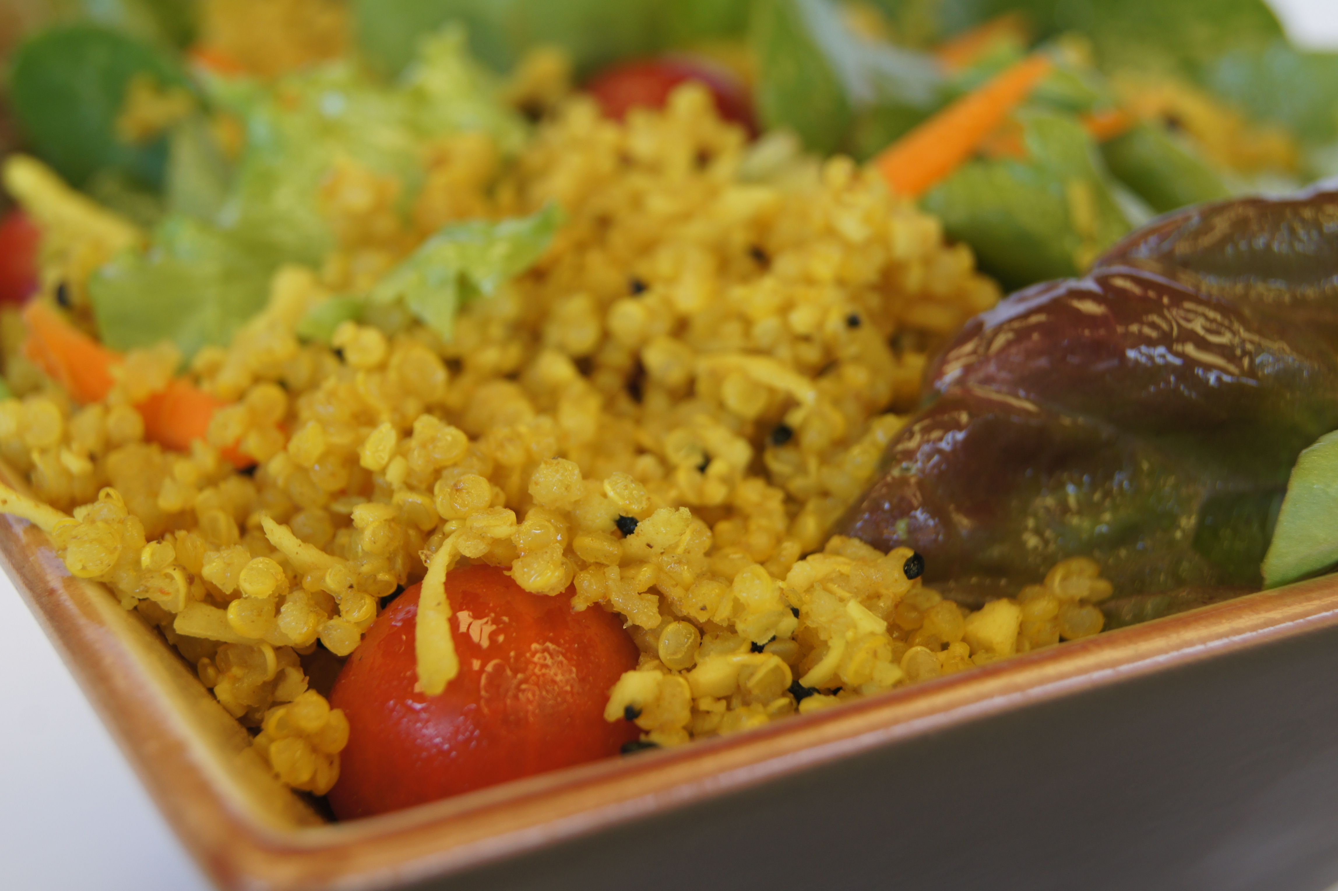 Satvik foods quinoa salad a delicious nutritious lunch meal satvik foods lentils made in minutes forumfinder Choice Image
