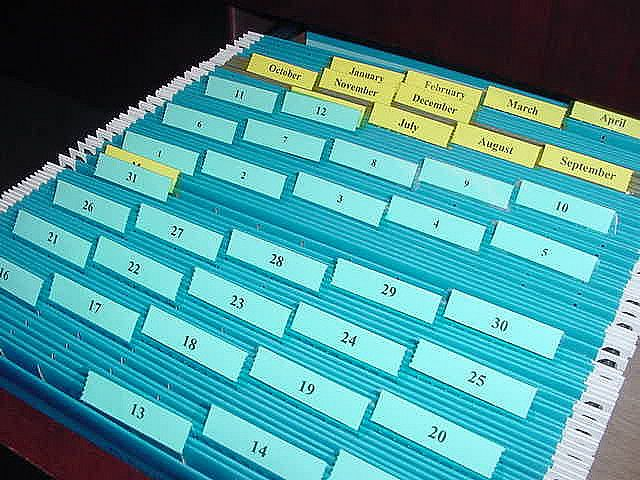 Tickler File 1 File Per Day Of The Month 31 Files 1