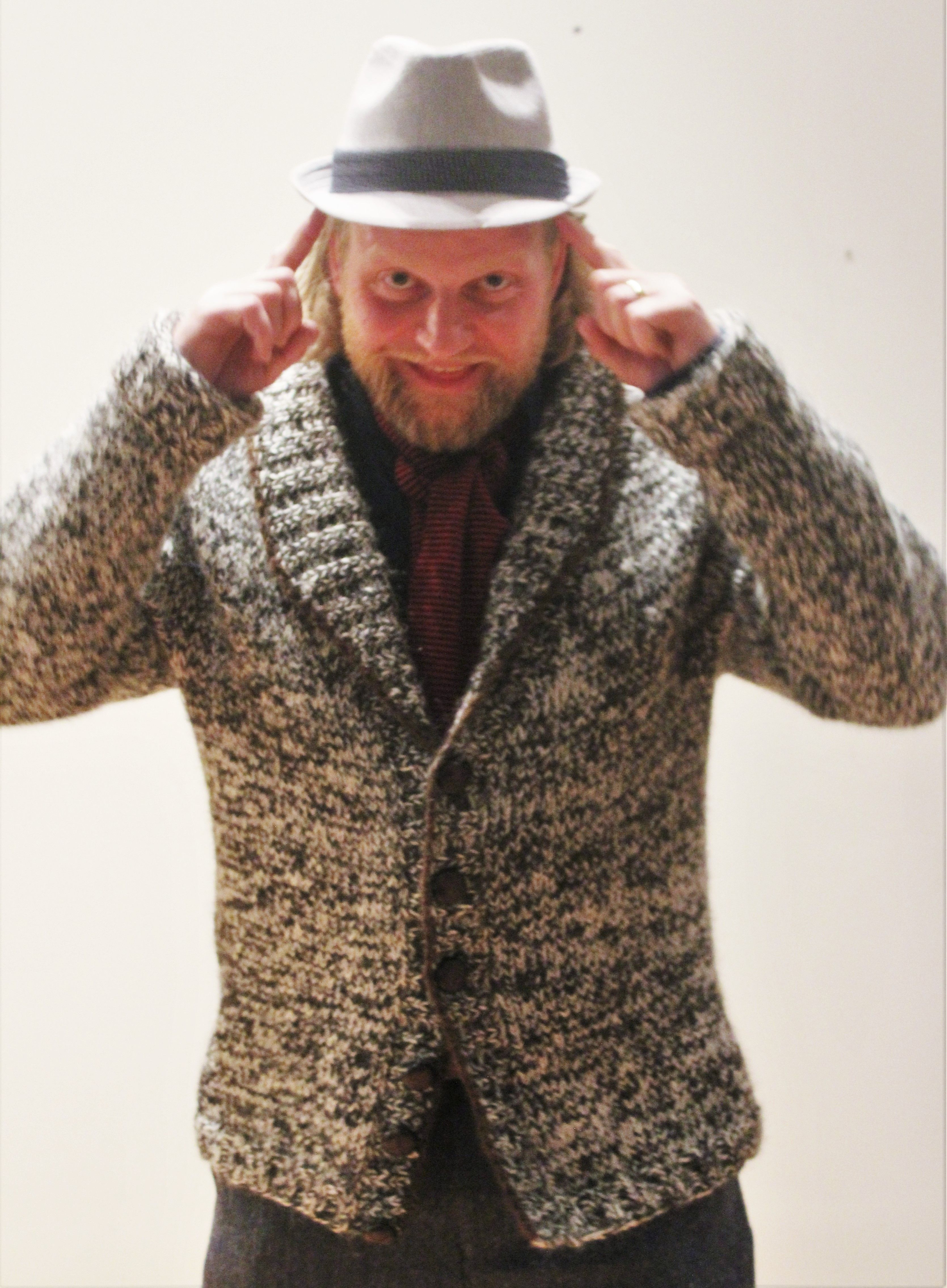 Hand knitted Icelandic lopapeysa chunky knit men s cardigan ...