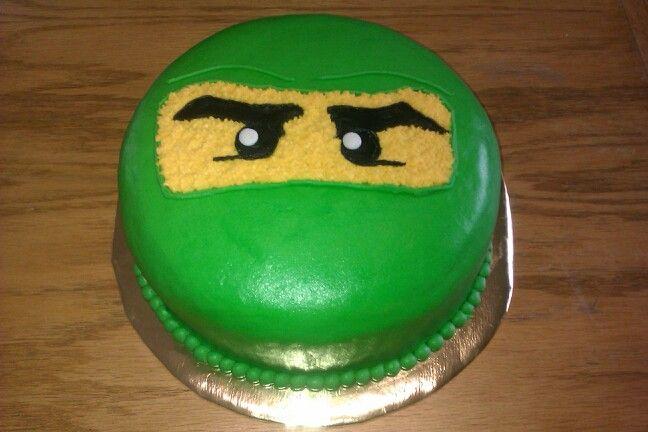Green Ninjago Buttercream Cake Ninjago Cakes Kids Cake Party
