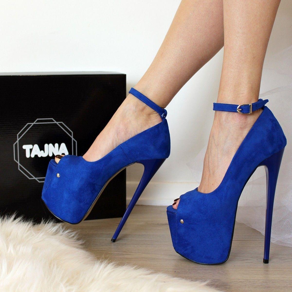 Tajna 20 Cm Saks Mavi Bilekten Bantli Yuksek Ince Topuklu Platform Abiye Ayakkabi Sadece 399 00tl Super Mega Topuk Heels Yeezy Shoes Women Casual Shoes Women