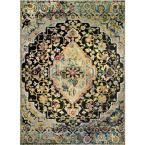 Shabby Chic Fiesta Charcoal/Gold/Green/Pink 5 ft. 2 in. x 7 ft. 2 in. Indoor Area Rug-2-2947-821 - The Home Depot -  Shabby Chic Fiesta Charcoal/Gold/Green/Pink (Grey/Gold/Green/Pink) 5 ft 2 in x 7 ft 2 in Indoor Are - #Area #charcoal #CharcoalGoldGreenPink #Chic #CucinaShabbyChic #depot #EstiloShabbyChic #Fiesta #green #home #indoor #RachelAshwellShabbyChic #Rug22947821 #shabby #ShabbyChicAesthetic #ShabbyChicApartment #ShabbyChicArredamento #ShabbyChicArt #ShabbyChicBabyShowerGirl #ShabbyChic