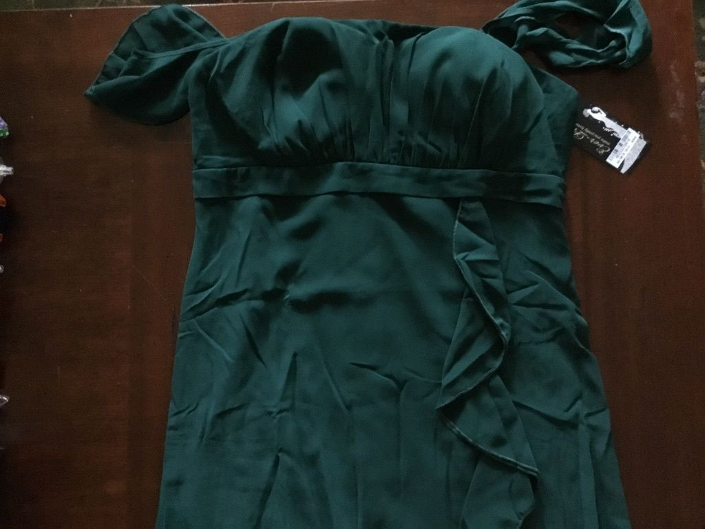 Nice us short dark green bridesmaid cocktail party ball formal prom