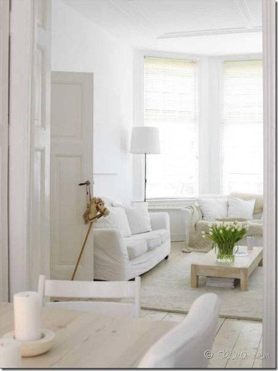 Witte woonkamer | Wooninspiratie | Woonkamer | Pinterest