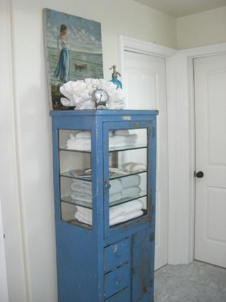 Beau Bathrooms   Cabinet, Towels, Bathroom, Antique Dental Cabinet, Restoration  Hardware Towels