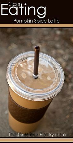 Clean Eating Pumpkin Spice Latte. You'll never need Starbucks again! #CleanEatingRecipes I.Must.Try.This.