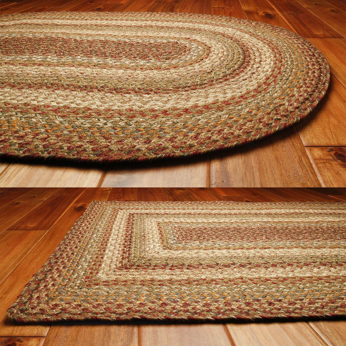 Details About Harvest Jute Braided Rugs By Homespice Decor In 2020 Braided Jute Rug Braided Area Rugs Braided Rugs