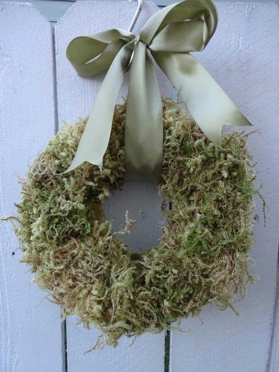 """10 Ways To Decorate With Green Moss: Moss Wreath 10"""" Moss Wreath Green Wreath Saint Patrick's Decoration Natural Wreath Gift Rustic"""