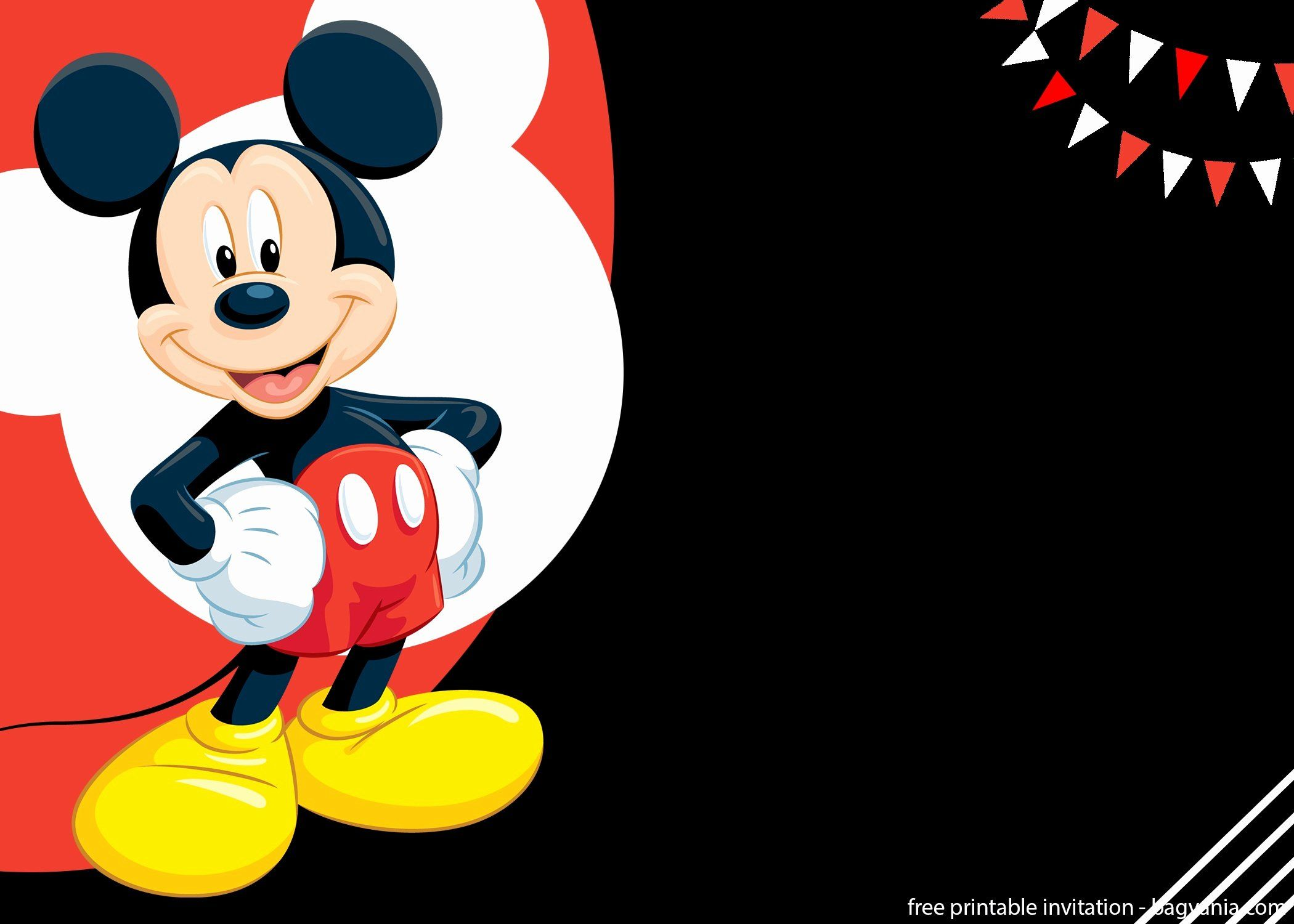 Mickey Mouse Invitations Templates Awesome Free Mickey Mouse