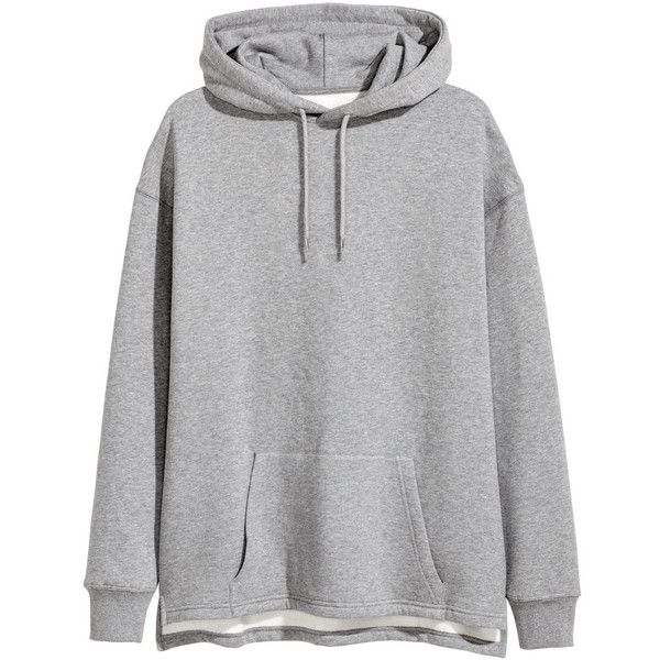 Uni Hoodie $29.99 (96 BRL) ❤ liked on Polyvore featuring tops, hoodies, oversized hoodies, grey hoodies, lined hoodie, long hoodies and sweatshirt hoodies