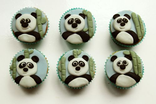 Cute Panda Cupcakes Creative Party Ideas Pinterest Soccer