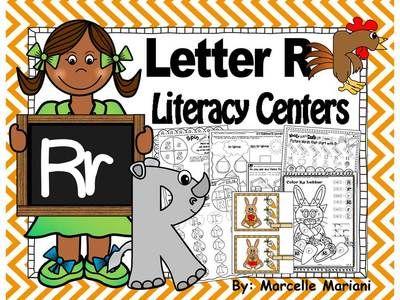 Letter Of The Week R Literacy Center Activities For Kindergarten NO