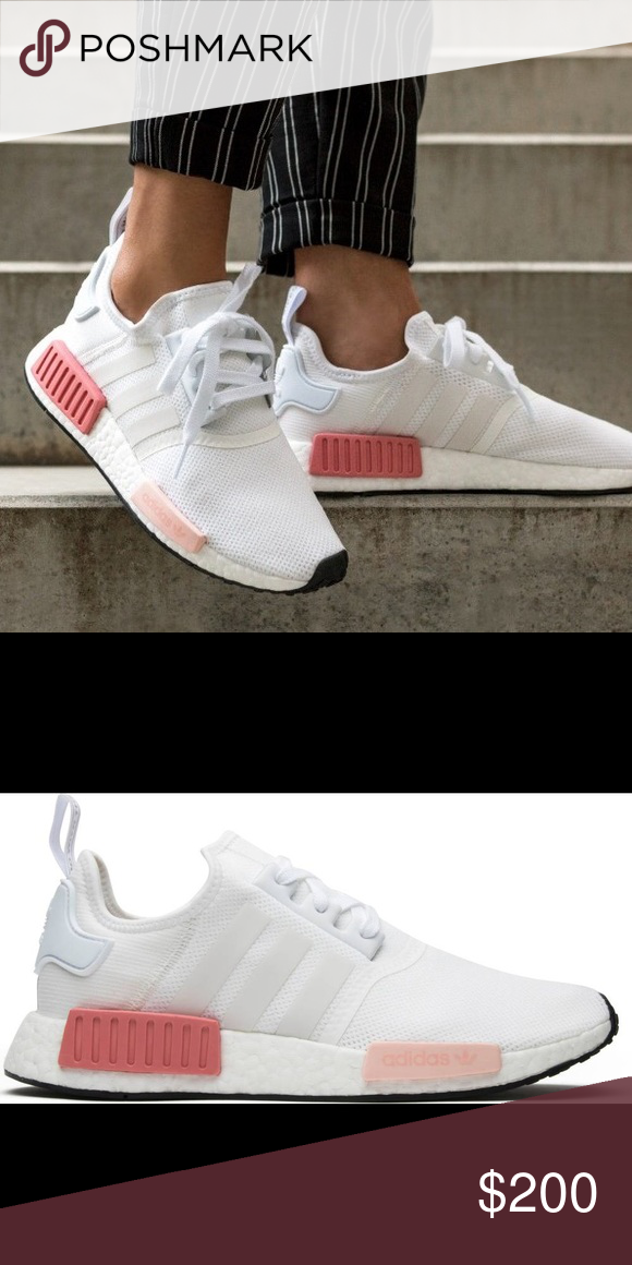 NIB Adidas NMD R1 BY9952 White Pink Rose Shoes Never worn