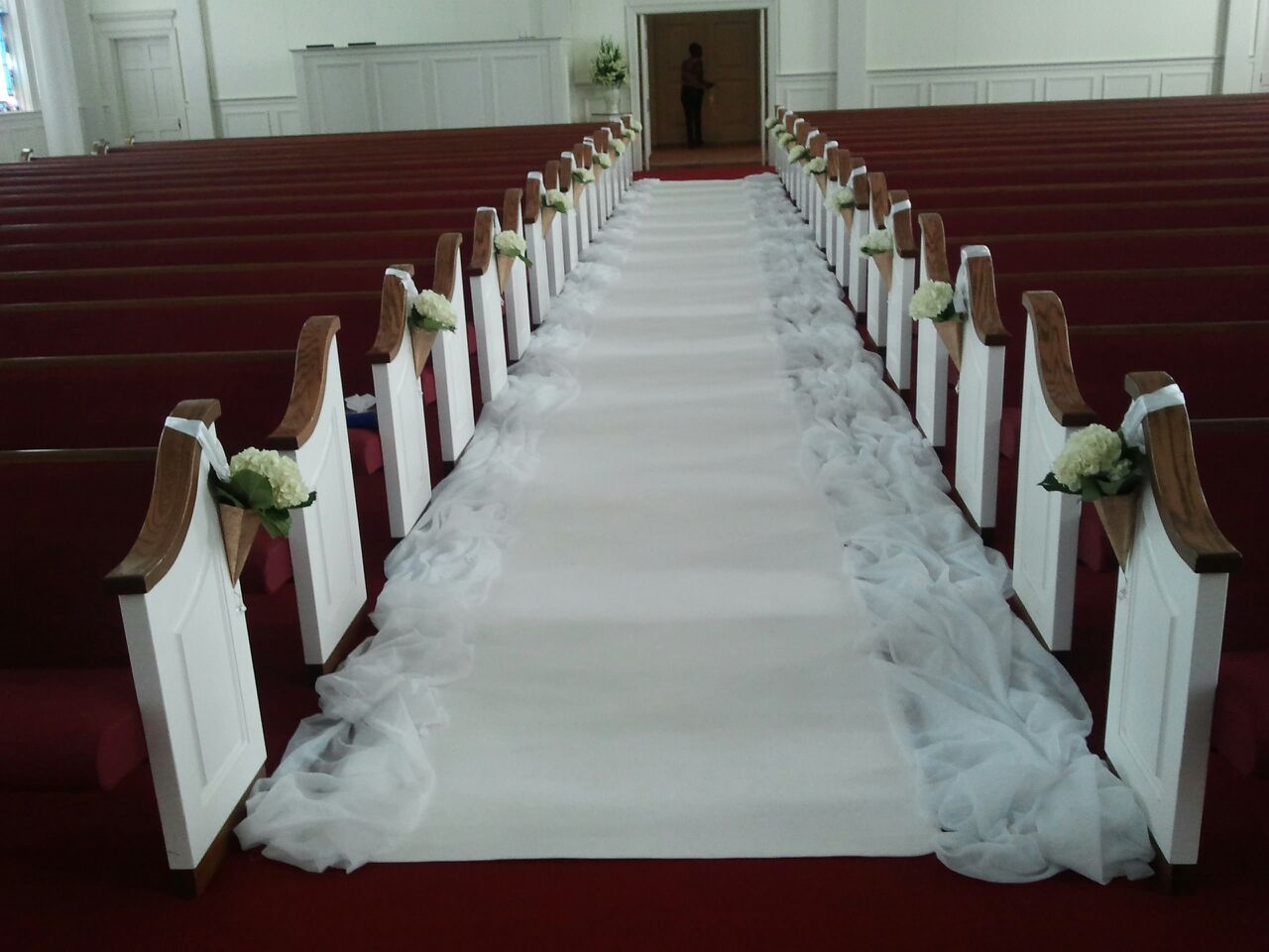 Wedding decor all white  all white wedding aisle simple wedding decor  That Day is Coming