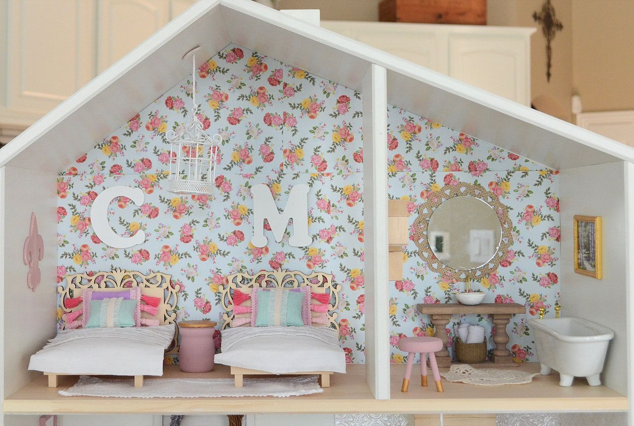 The Madeline Dollhouse | Sawdust Angel Wood Boutique | Dollhouse, IKEA  Dollhouse, Dollhouse DIY, Dollhouse Reno, Shabby Chic Dollhouse, Mini  Furniture, ...