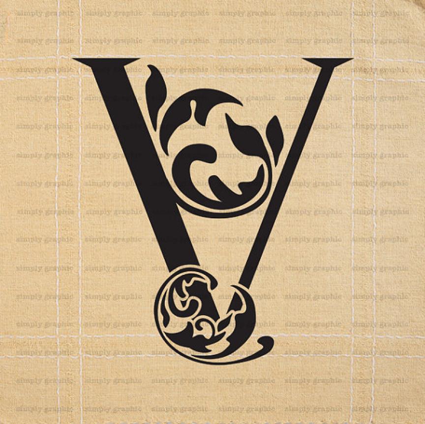 Letter V Wall Art, Letter Cake Topper, Initial Letter Art, Alphabet ...