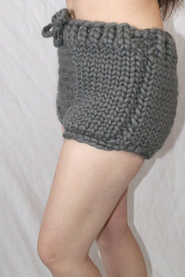1e79f6070e795f Dicke grobstrick Shorts Panty Slip Unterhose 100% Merino Wolle Schafswolle Unterwäsche  für Männer hand gestrickt by Strickolino von Strickolino auf Etsy