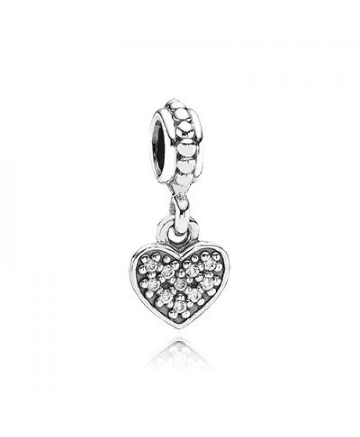 11955b5d8 Pandora Clear Pave Heart Charm Outlet Sale | graduation charms ...