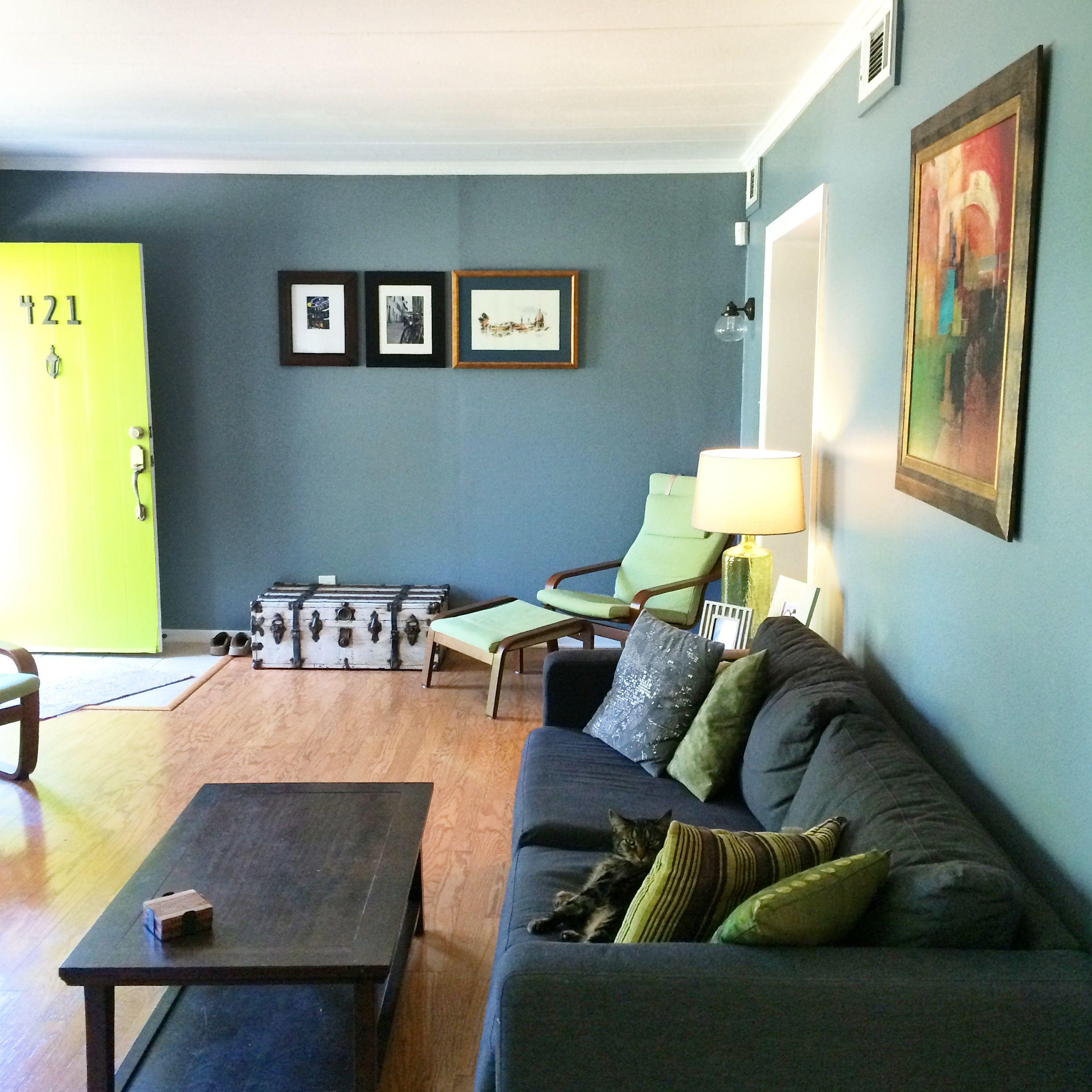 incredible behr paint living room | Blue living room + green door Behr Paint, 740F-4 Dark ...