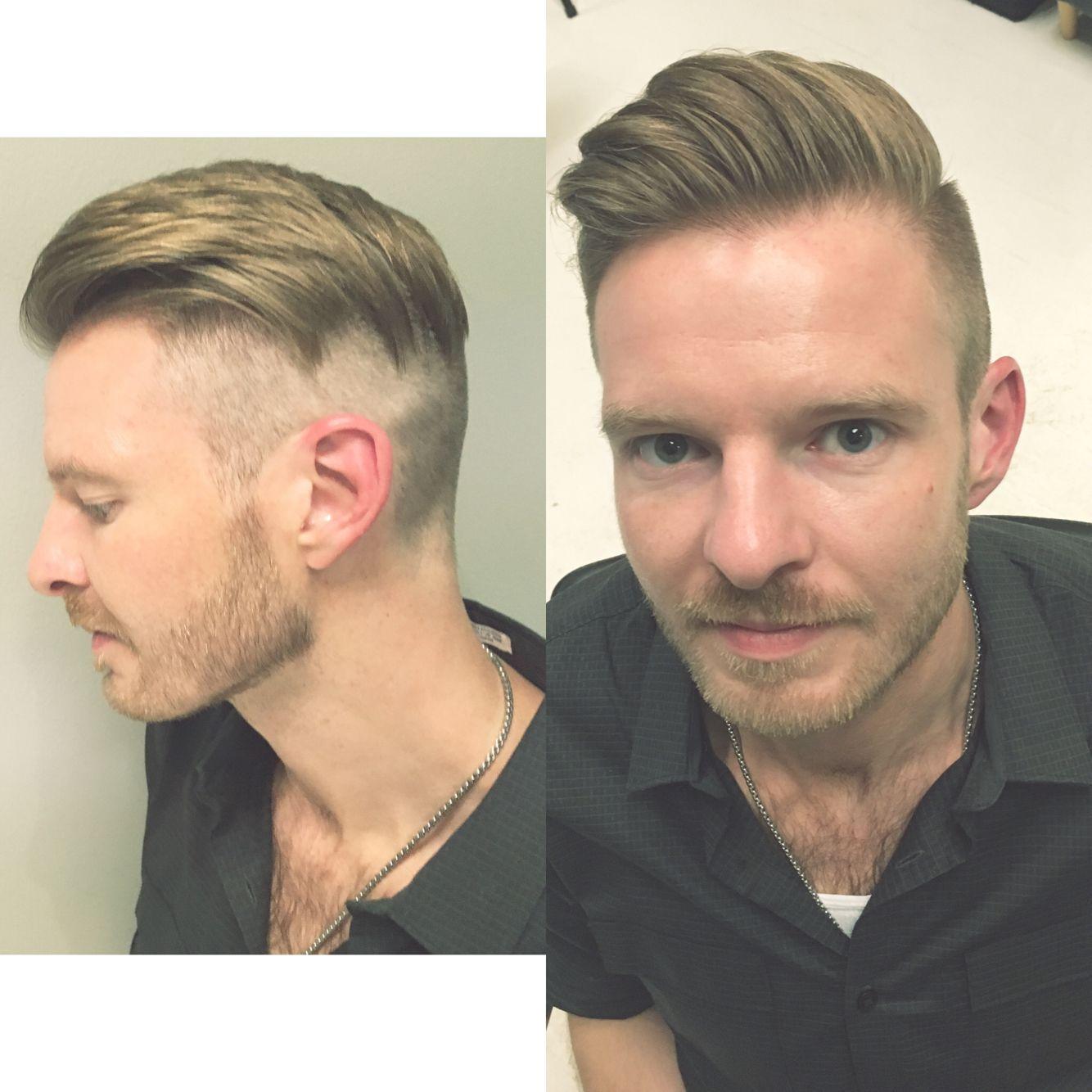 Mens High Fashion Disconnected Undercut Retro Haircut By Elmira