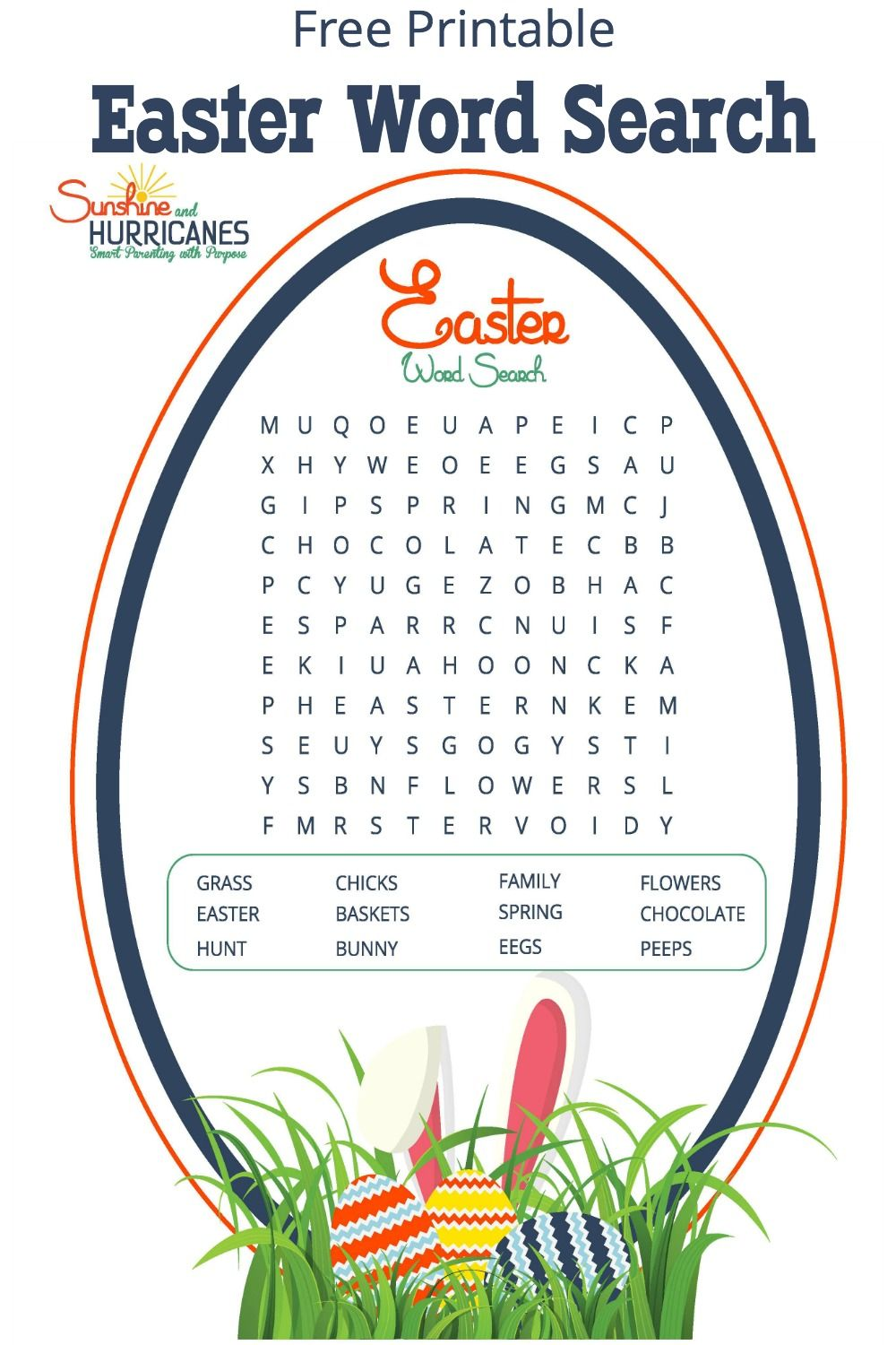 Easter Word Search Easter party, Word search and Free