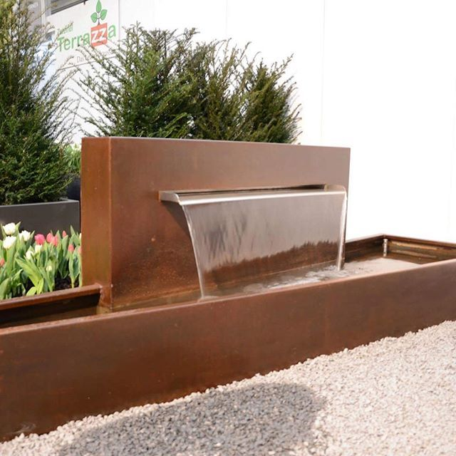 svizzera schweiz suisse corten custom brunnen wather waterfall watherfontain design. Black Bedroom Furniture Sets. Home Design Ideas