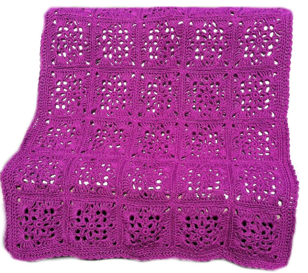 Crochet afghan crochet blanket Victorian wedding romantic victorian crochet granny square, purple grape orchid, READY TO SHIP by CrochetKaleidoscope on Etsy https://www.etsy.com/listing/199109436/crochet-afghan-crochet-blanket-victorian