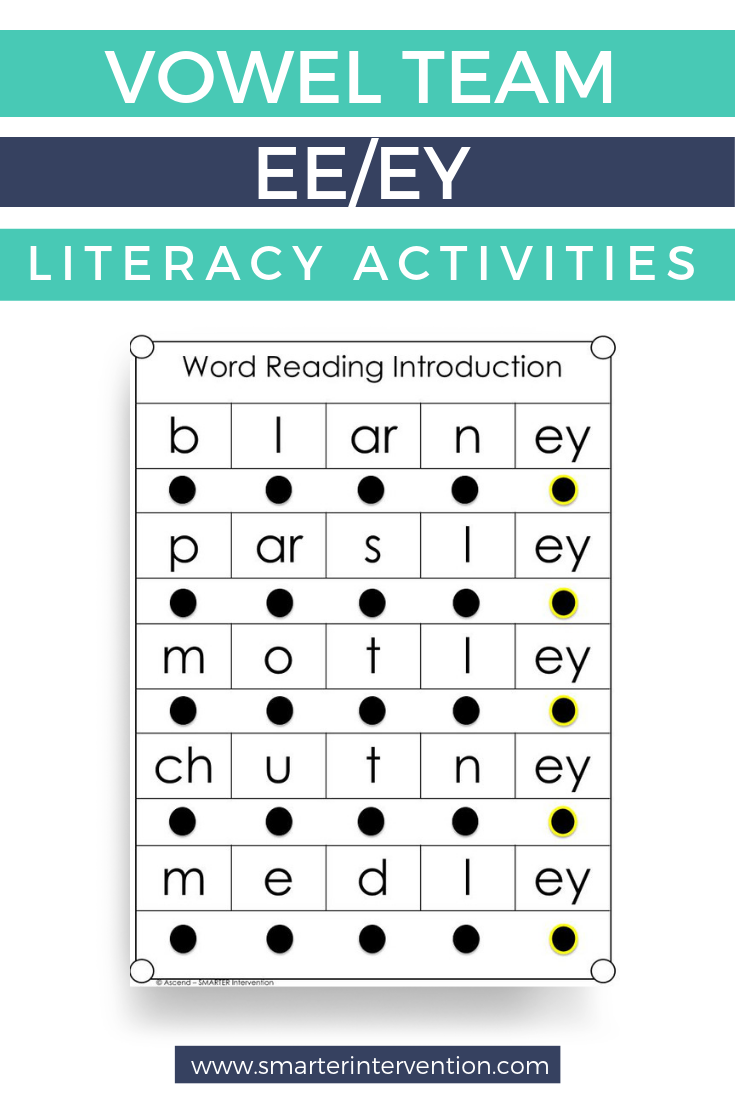 Vowel Team Ee Ey Worksheet Activities Smarter Intervention Learning Act Reading Intervention Strategies Reading Comprehension Strategies Reading Curriculum [ 1102 x 735 Pixel ]