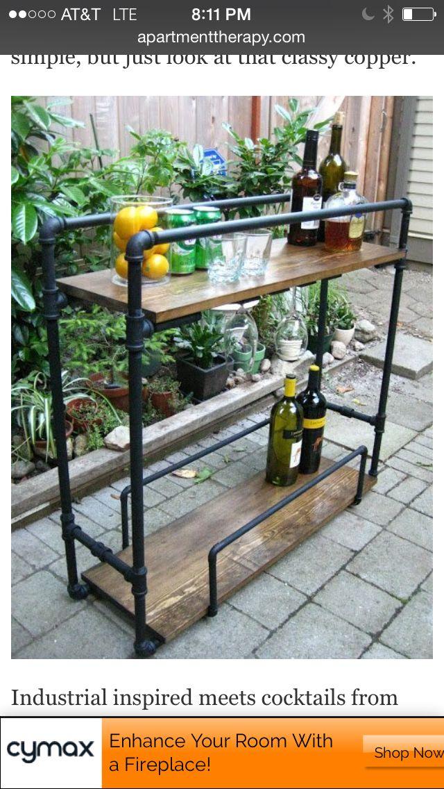 DIY Industrial barcart Ideas for the House Pinterest