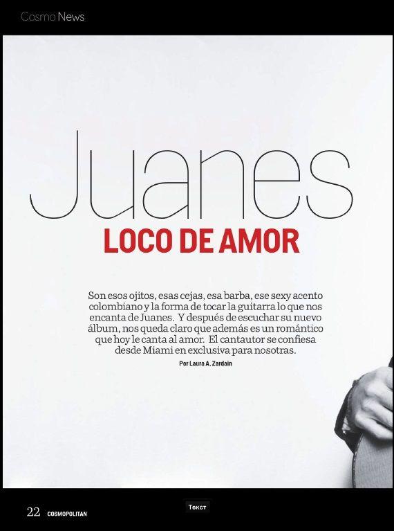 Juanes - Cosmopolitan (Abril-2014) #Juanes #Cosmopolitan