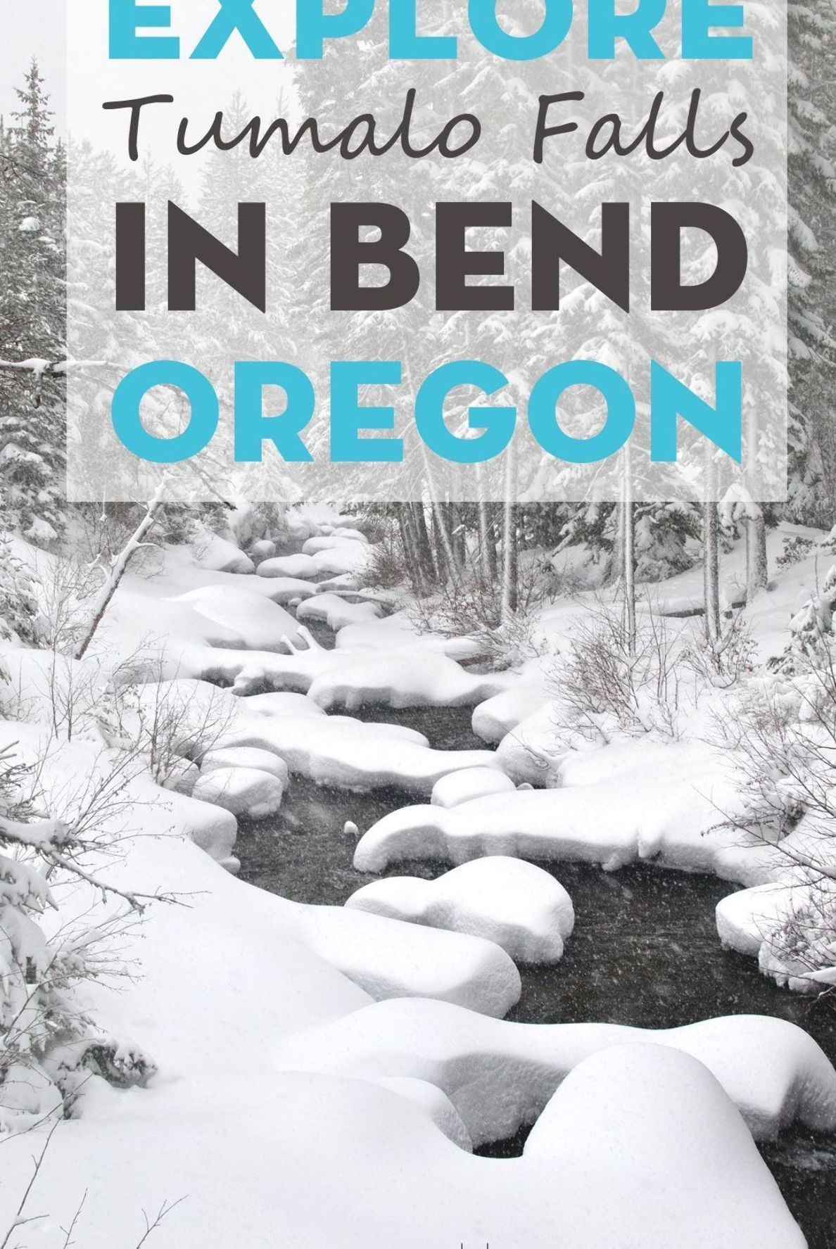 Guide to exploring Tumalo Falls trails in during winter. The beauty of Bend Oregon is that there are activities to enjoy during every season so try snowshoeing or cross country skiing to a gorgeous icy waterfall, you won't regret it! #bendoregon #winter #bendtrails #oregon #traveloregon #visitbend #winterhikes #winterwonderland #waterfall #icywaterfall #winterwaterfall