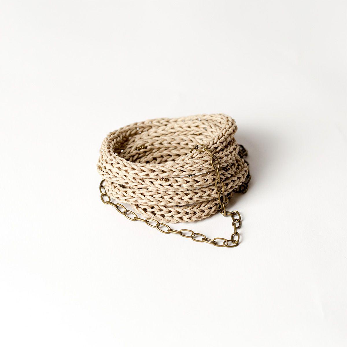 $43 Viking bracelet which integrated metal copper beads plus extension chain length 20cm. Bracelet length 1 m.