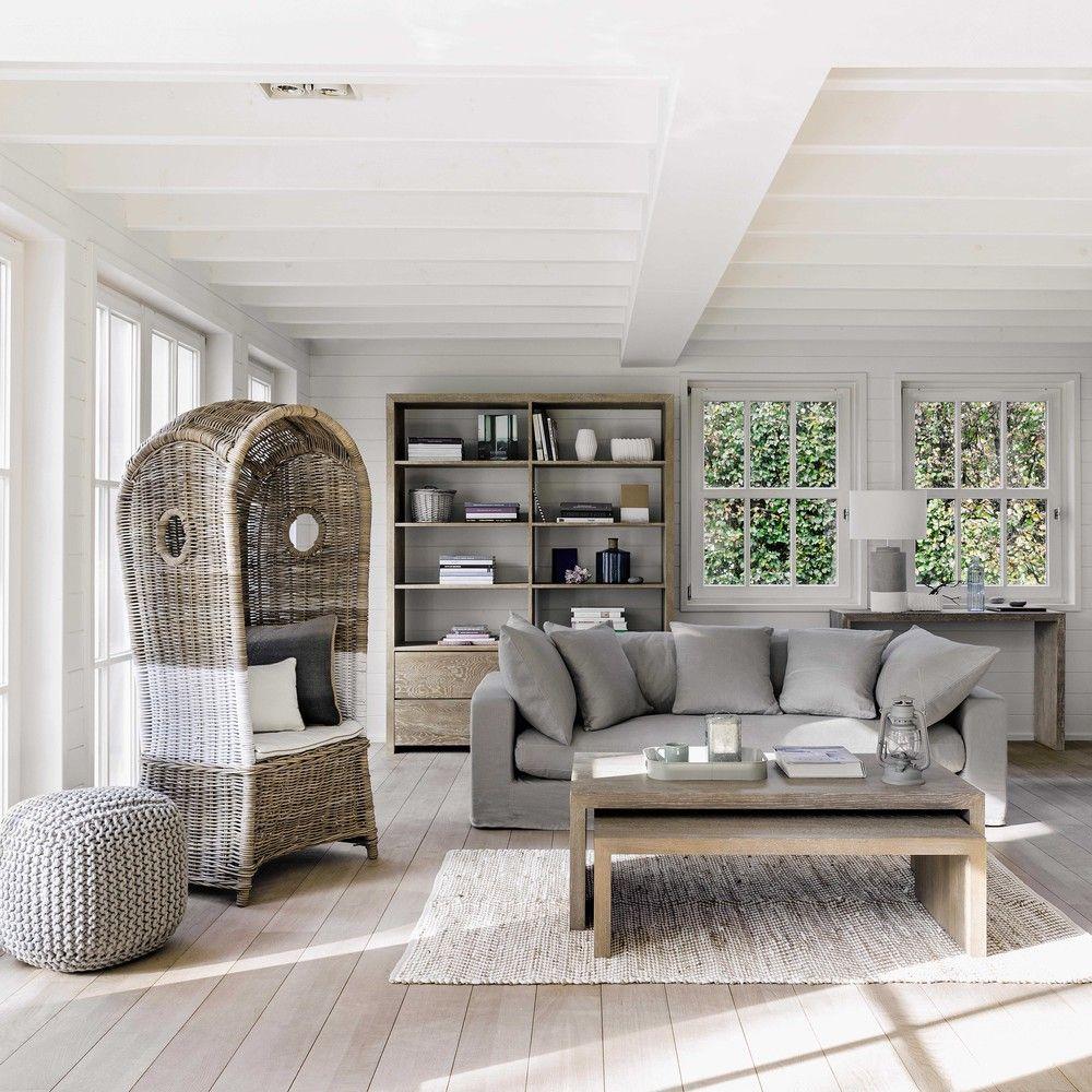 tables basses gigogne en bois grises l 115 cm l 130 cm. Black Bedroom Furniture Sets. Home Design Ideas