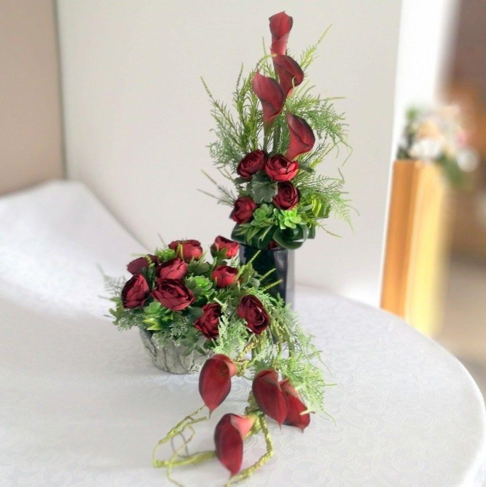 Nowoczesne Kompozycje Nagrobne Sztuczne Kwiaty Swiateczne Atelier Calla Lily Calla Plants