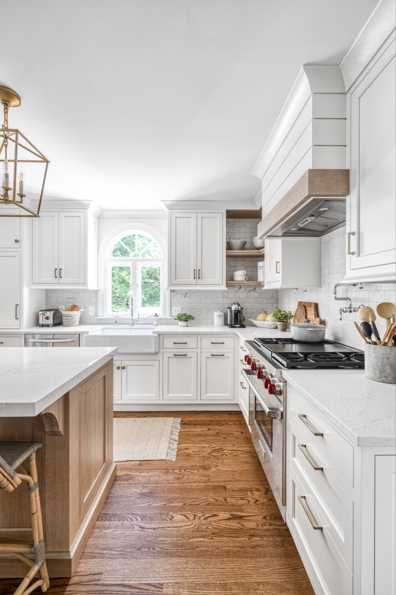 Oak And White Kitchen Cabinetry In 2020 Kitchen Cabinetry Cabinetry White Kitchen