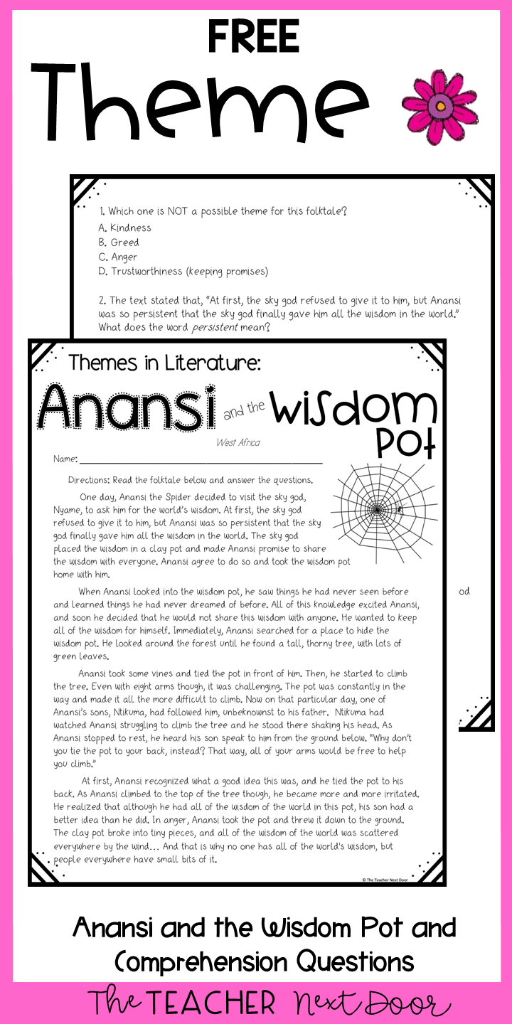 small resolution of Theme Freebie Print and Digital Distance Learning for 4th and 5th Graders    3rd grade reading