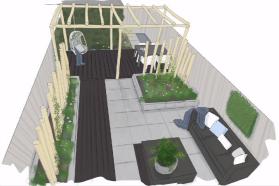 Plattegrond strakke tuin tuininspiratie pinterest for Rtl4 eigen huis en tuin gemist