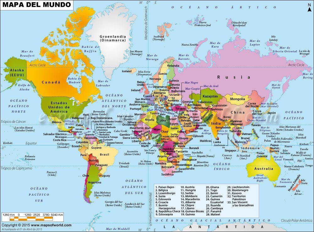 Mapa De El Mundo.Mapa Del Mundo Mapas Del Mundo Mapa Politico Del Mundo Y