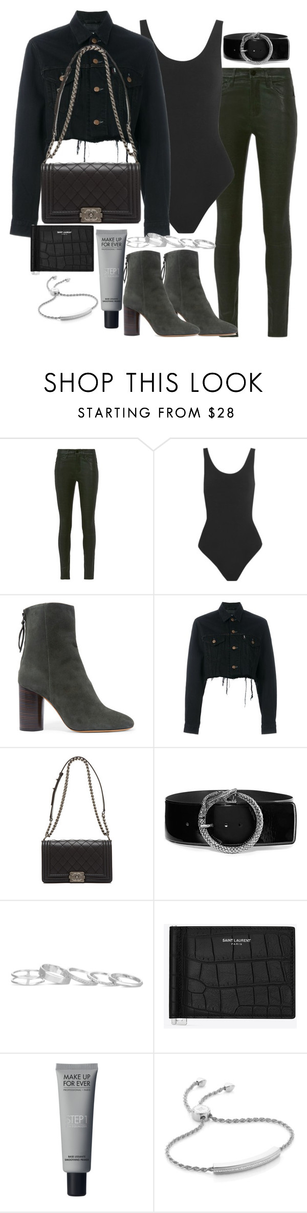 """Untitled #2692"" by theeuropeancloset on Polyvore featuring Frame Denim, Yummie by Heather Thomson, Isabel Marant, Blackyoto, Yves Saint Laurent, Kendra Scott and Monica Vinader"