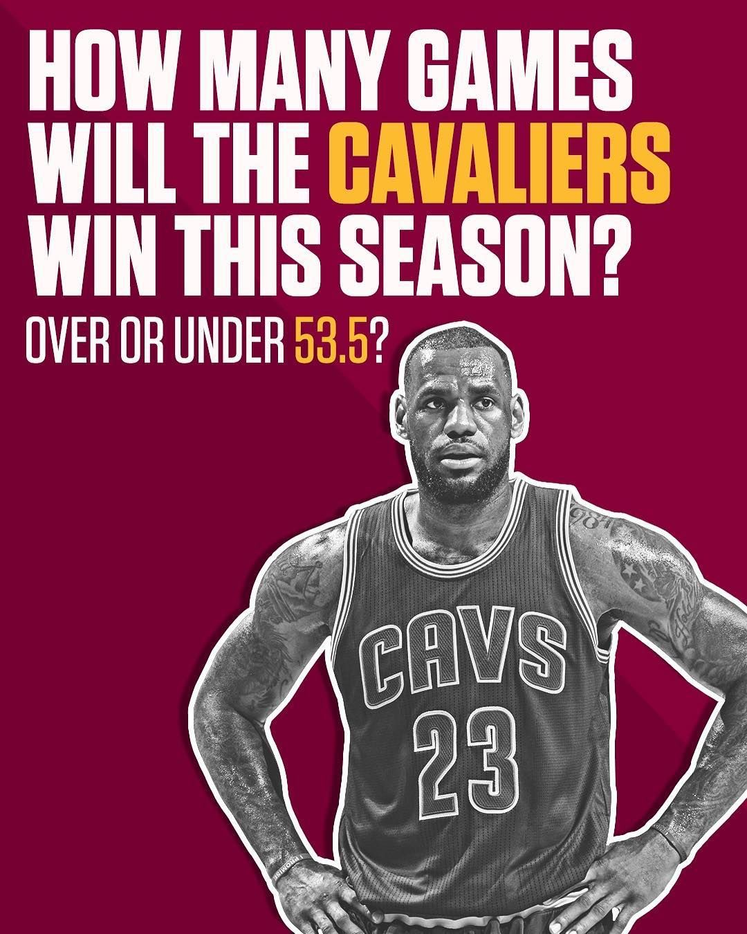 This Is The Lowest Preseason Over Under For The Cavs Since Lebron Returned To Cleveland Cavs Lebron Cleveland