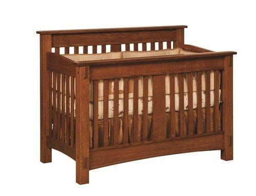 Amish Baby Furniture Crib Changer Solid Wood Nursery Set Conversion Toddler Bed | eBay